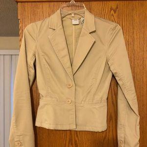 Armani Exchange A/X tan cotton blazer
